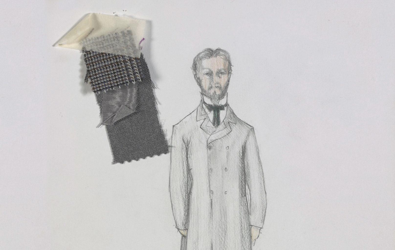 Nick Ormerod's costume and set designs for A Family Affair (copyright Nick Ormerod)
