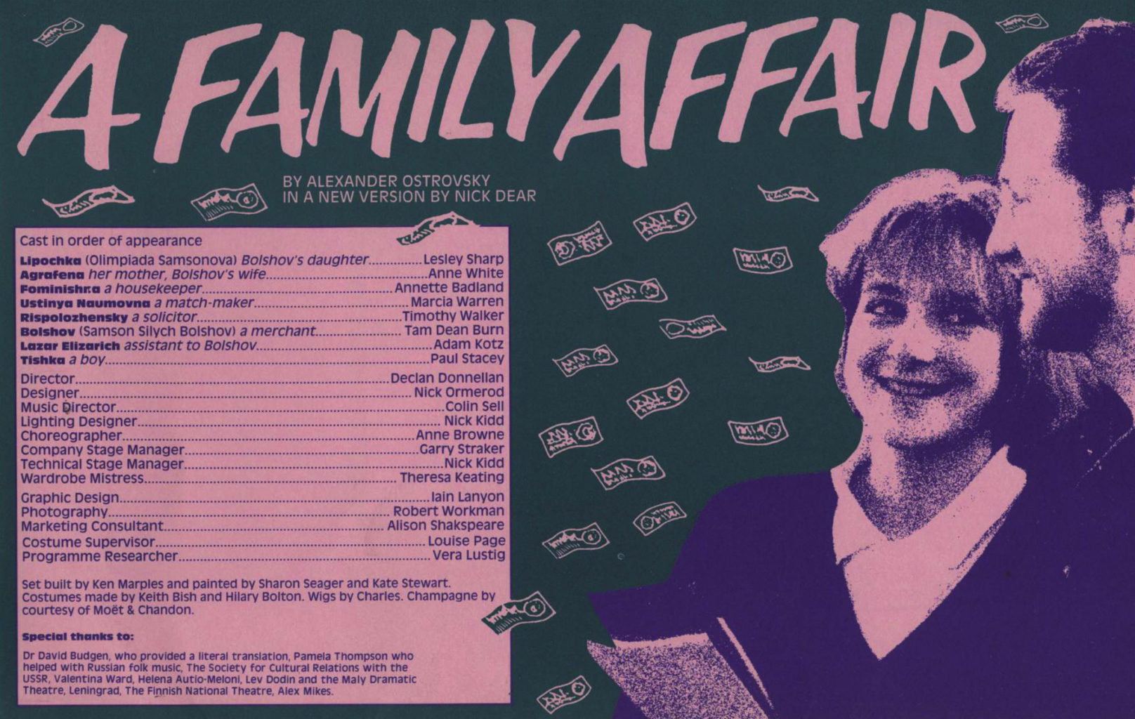 Programme for Cheek by Jowl's A Family Affair