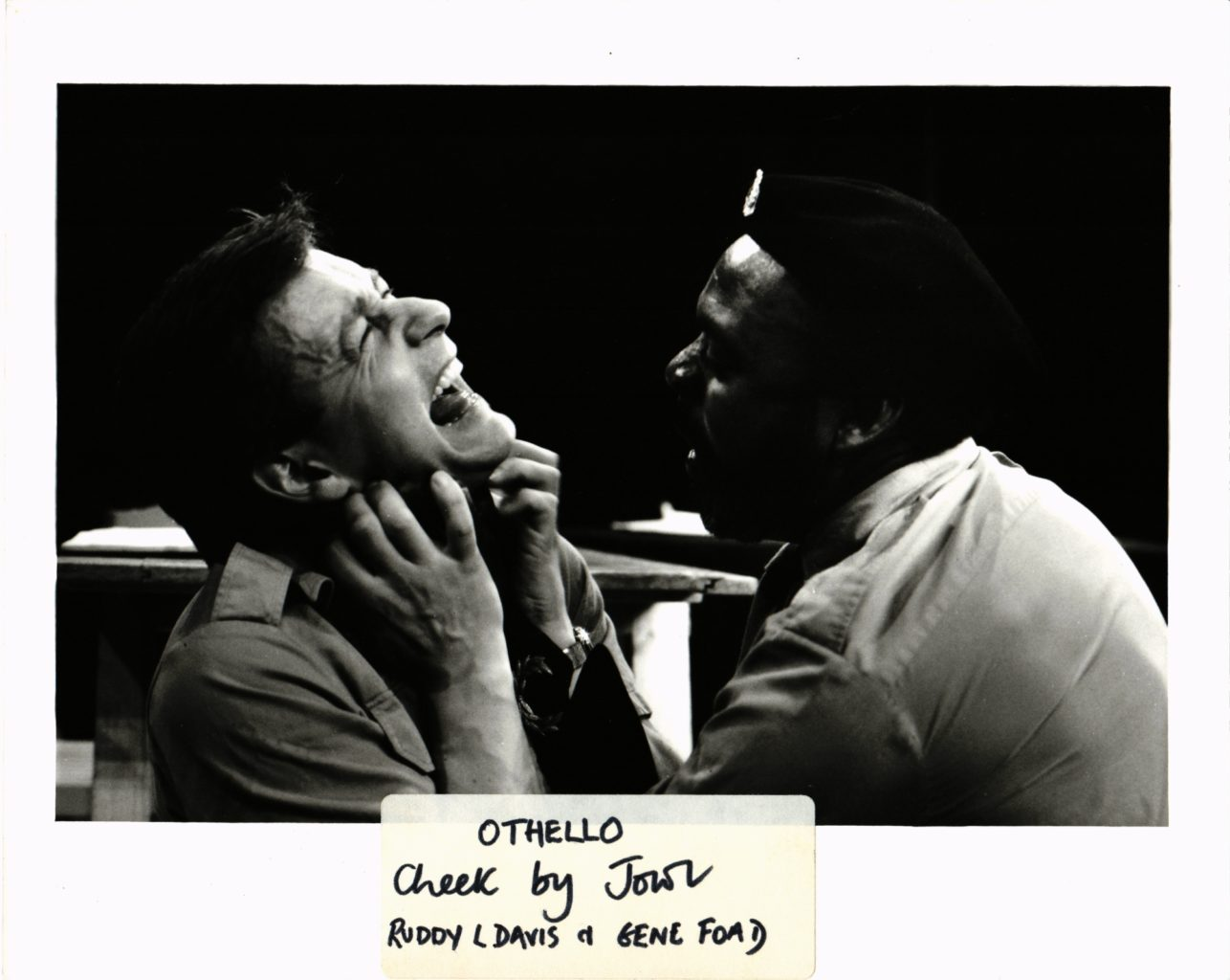 Othello black and white rehearsal photography, 1982-1983 (copyright John Beveridge)