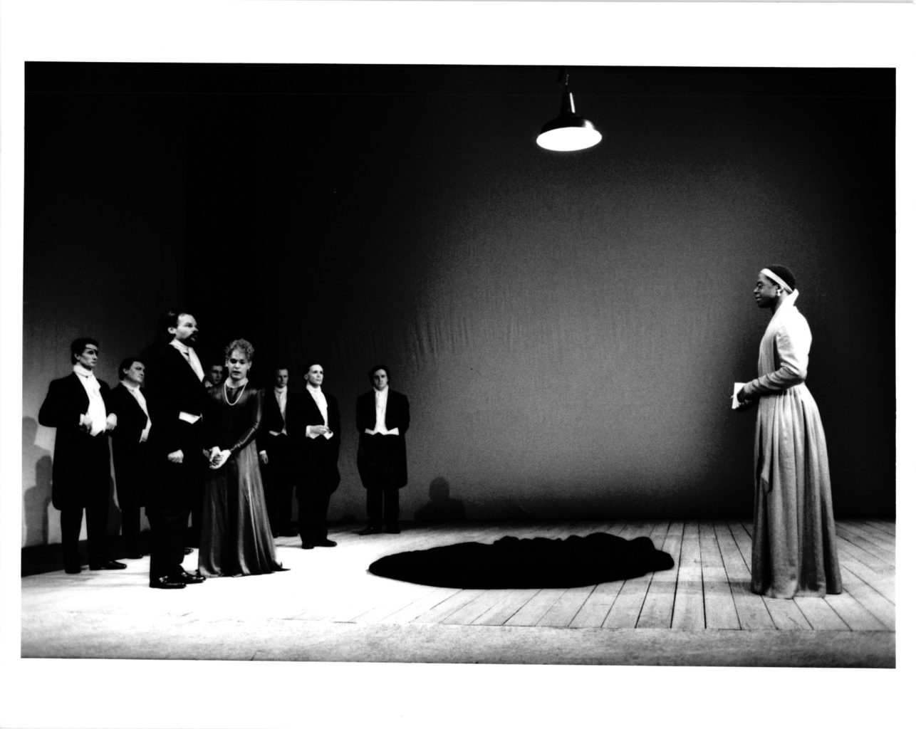 As You Like It (1991-1992) black and white production photography (copyright John Haynes)