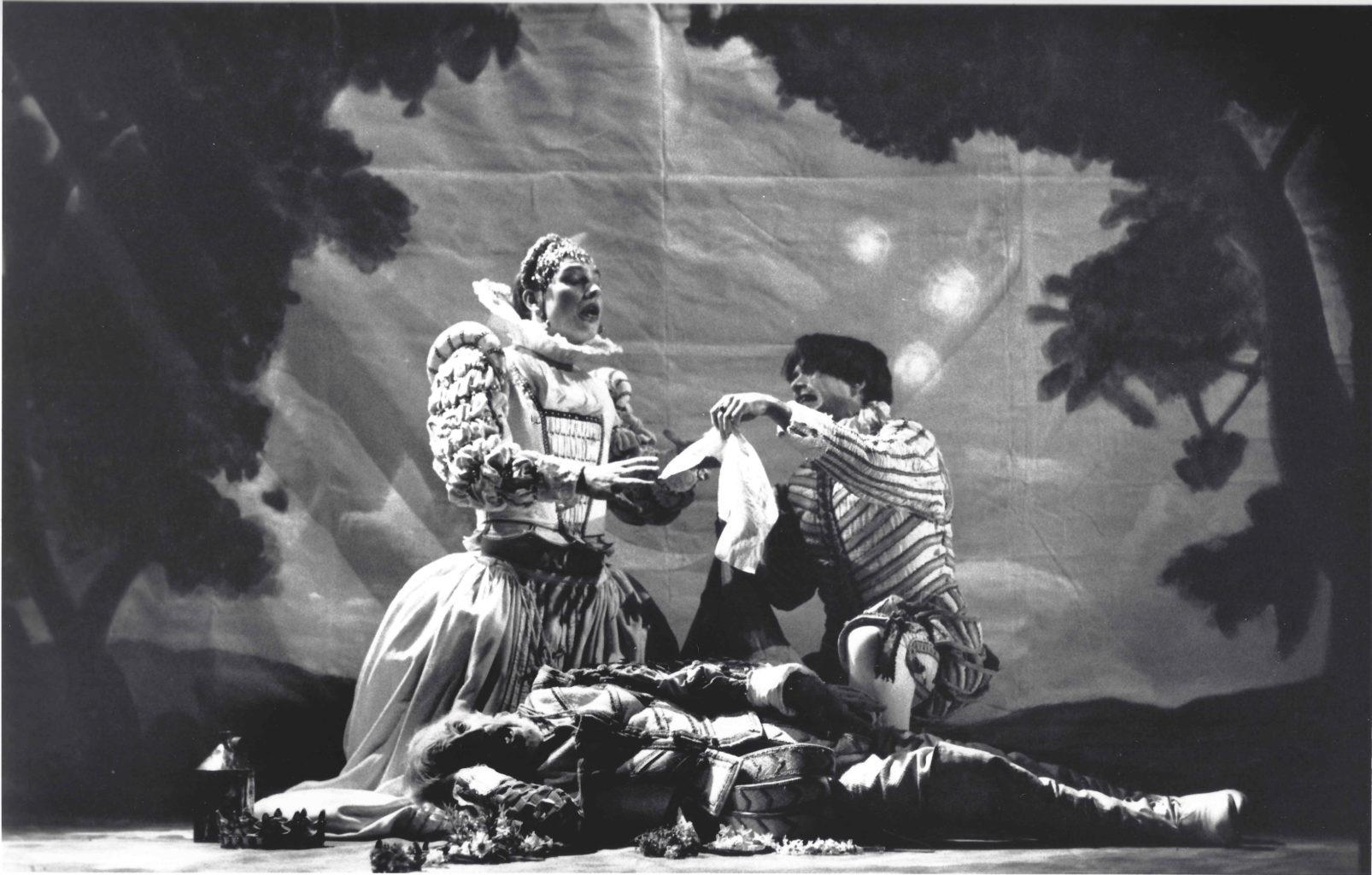 Hamlet black and white production photography (copyright John Haynes)