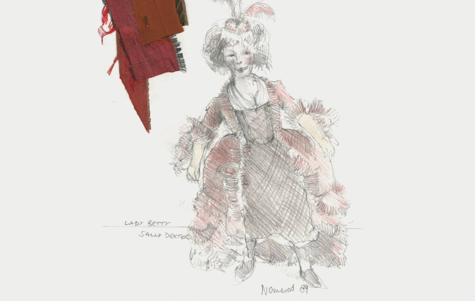 Nick Ormerod's costume design for Cheek by Jowl's production of Lady Betty