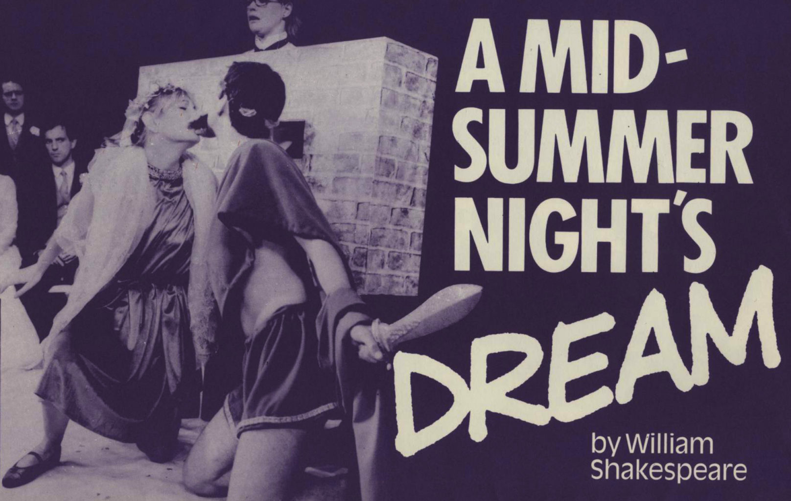 Programme for Cheek by Jowl's 1985 production of A Midsummer Night's Dream