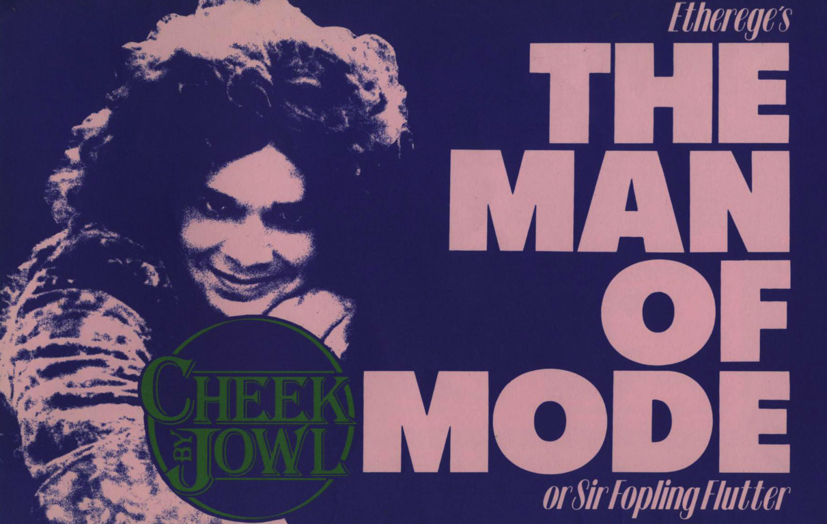 Programme for Cheek by Jowl's 1985-1986 production of The Man of Mode