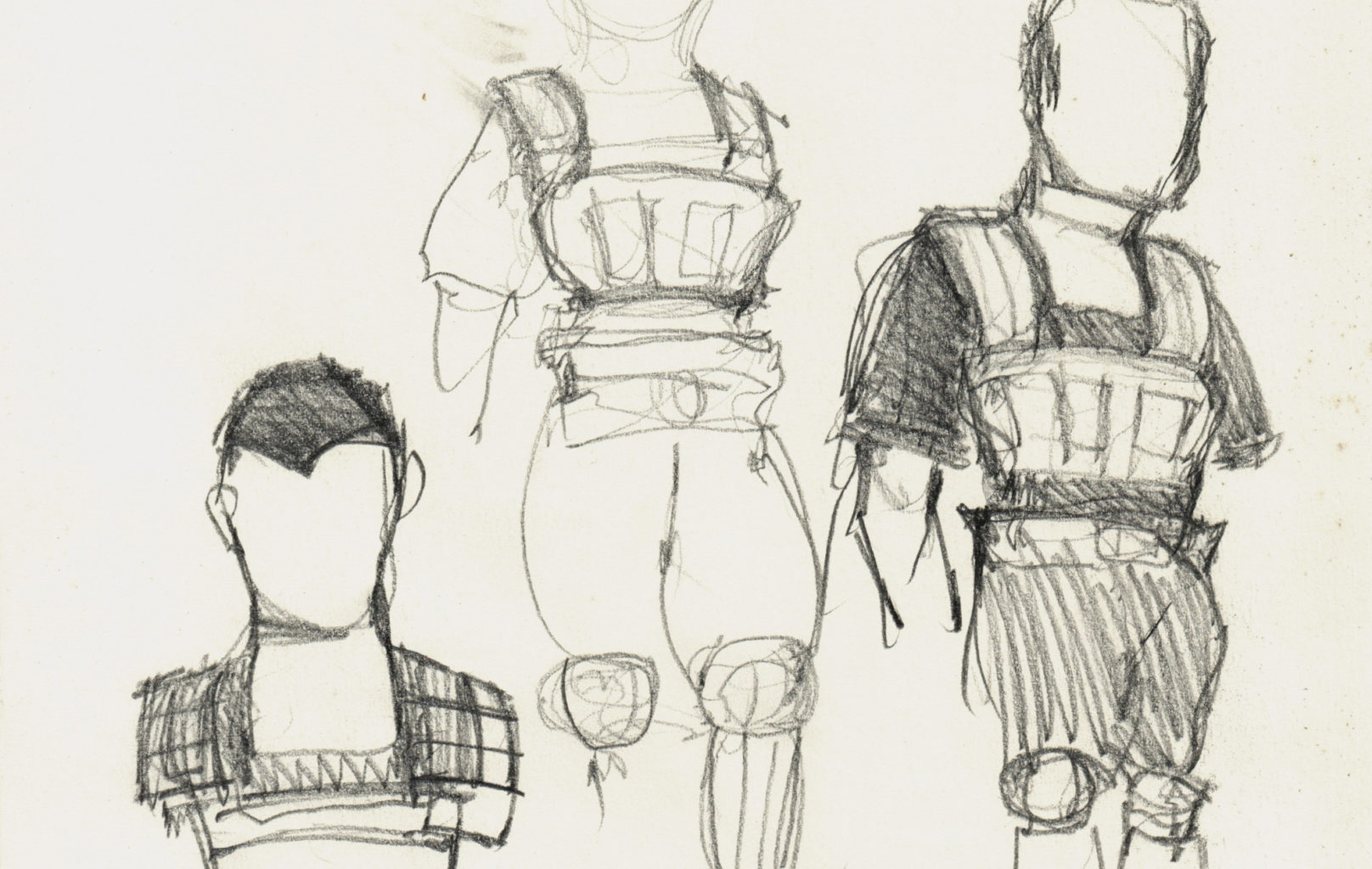Nick Ormerod's costume designs for Troilus and Cressida (copyright Nick Ormerod)