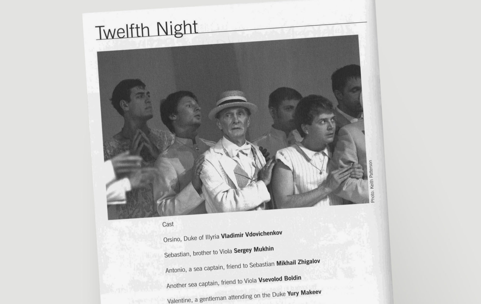 Programme for Twelfth Night at BAM Next Wave Festival in 2006