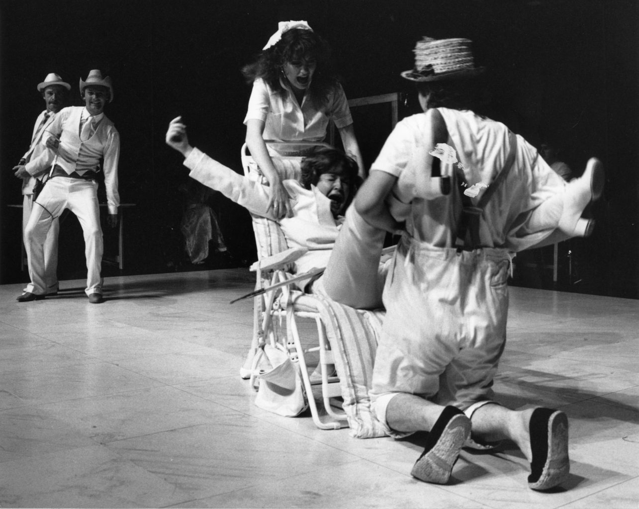 Twelfth Night 1986-1987 black and white production photography (copyright Robert Workman)