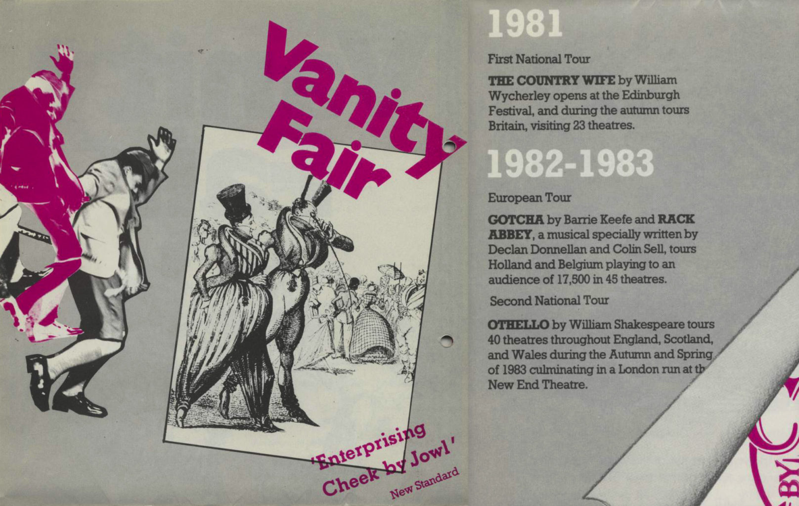 Programme for Cheek by Jowl's Vanity Fair (version 1)