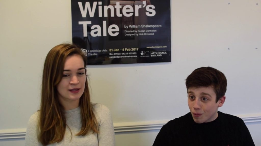 Mamillius, Emilia and Time. Grace Andrews and Tom Cawte discuss their characters in The Winter's Tale.