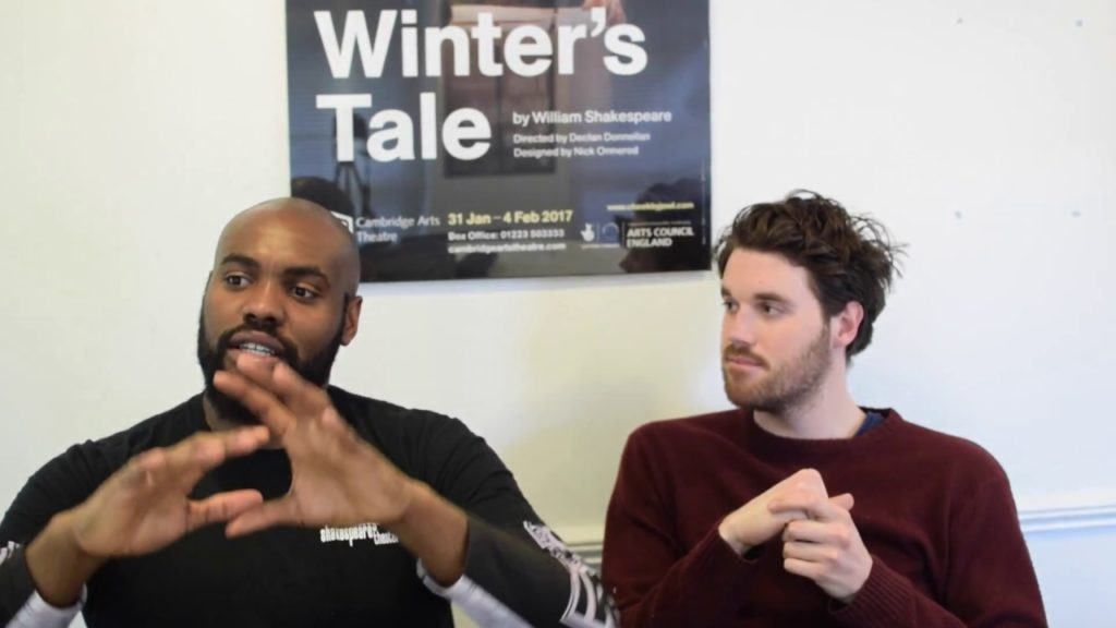 Cleomenes and Dion. Joseph Black and Guy Hughes discuss their characters in The Winter's Tale