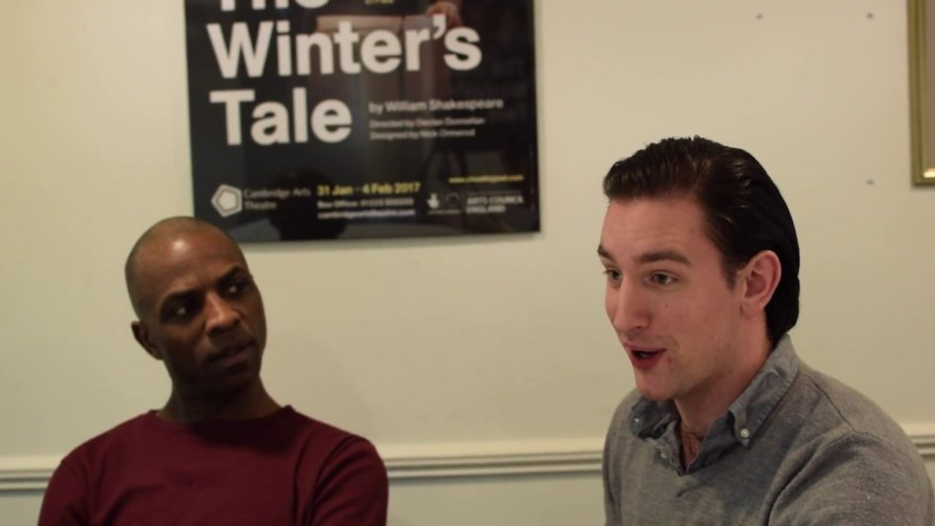 Camillo and Polixenes. David Carr and Edward Sayer discuss their characters in The Winter's Tale