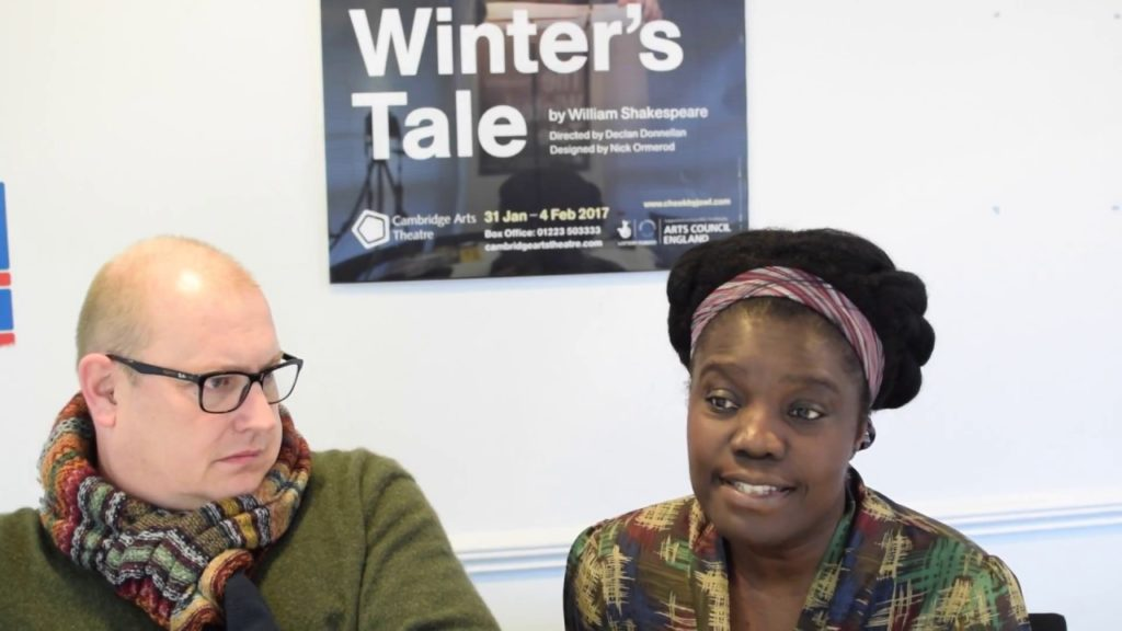Antigonus & Paulina. Peter Moreton and Joy Richardson discuss their characters in The Winter's Tale