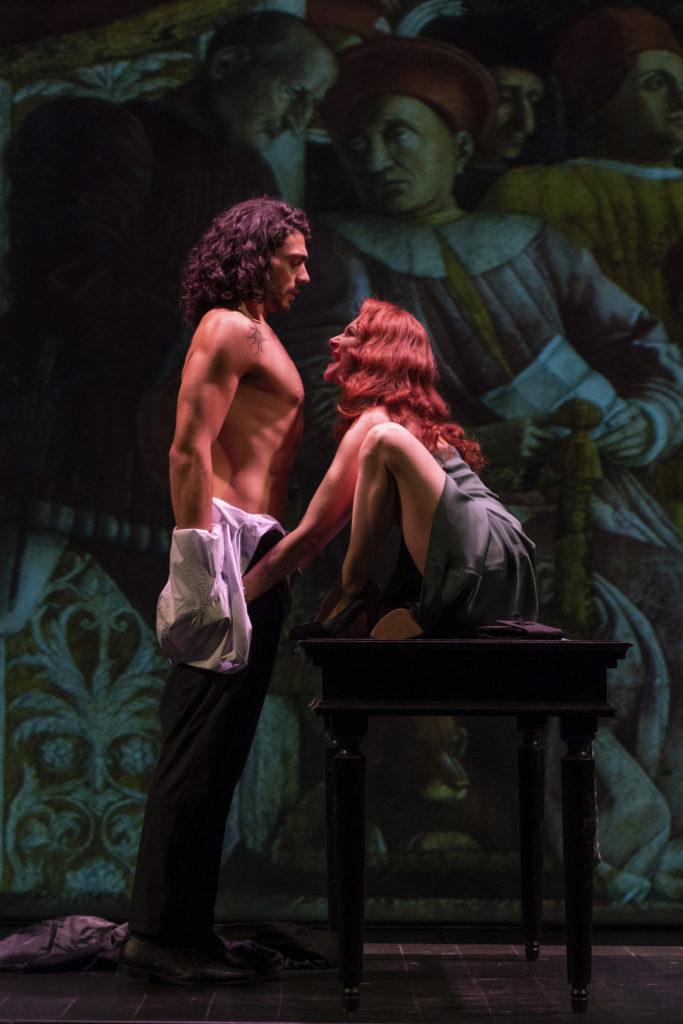 Errico Liguori and Pia Lanciotti in The Revenger's Tragedy. Photo: Masiar Pasquali