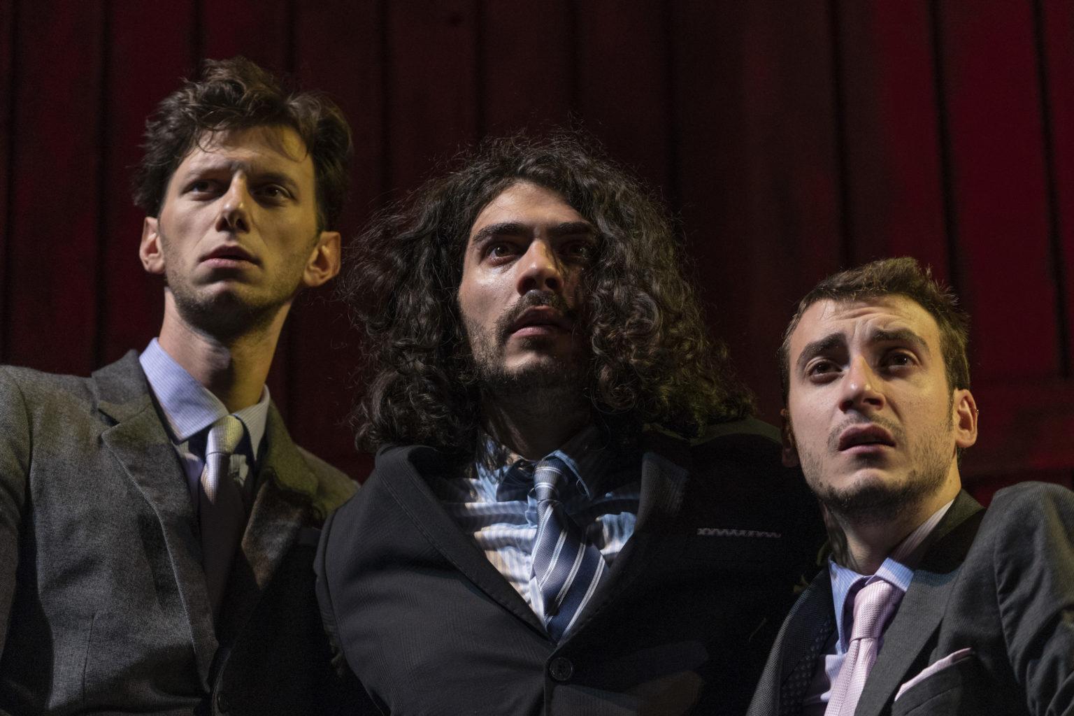 David Meden, Errico Liguori and Christian Di Filippo in The Revenger's Tragedy. Photo: Masiar Pasquali